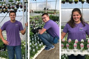 Grasman kids in greenhouse
